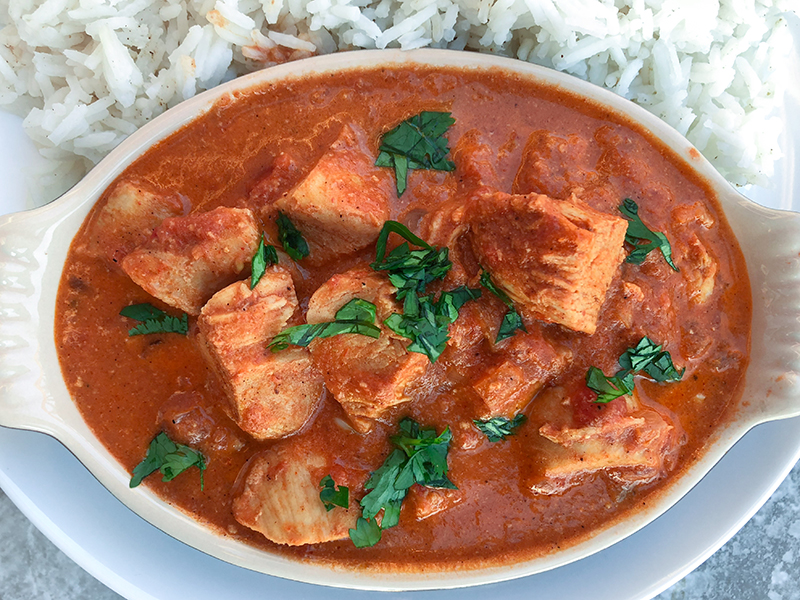 Chicken Tikka Masala close up