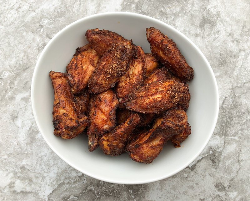 Smoked Sweet Barbecue Chicken Wings dry rub