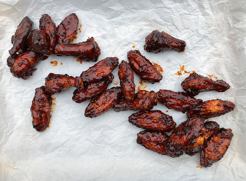 Smoked Sweet Barbecue Chicken Wings
