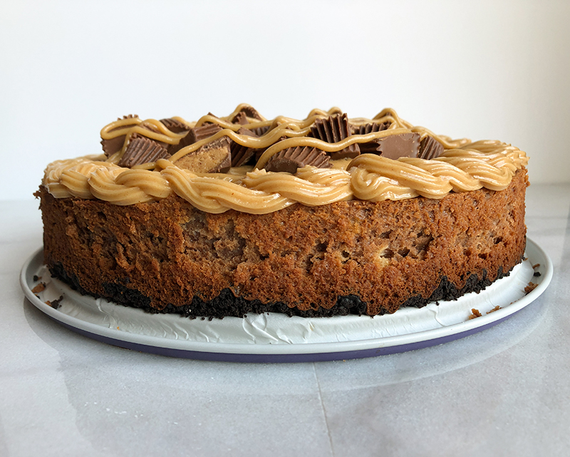 Chocolate Peanut Butter Cup Cheesecake, gluten free cheesecake