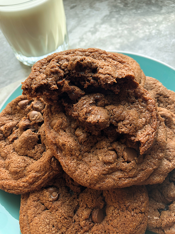 GF Nutella Chocolate Chip Cookies